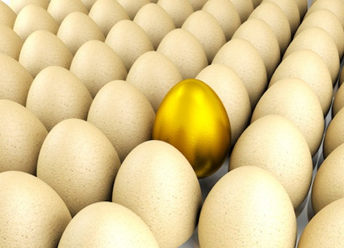 Valuable Golden Egg For Leadership Concept, 3D Render