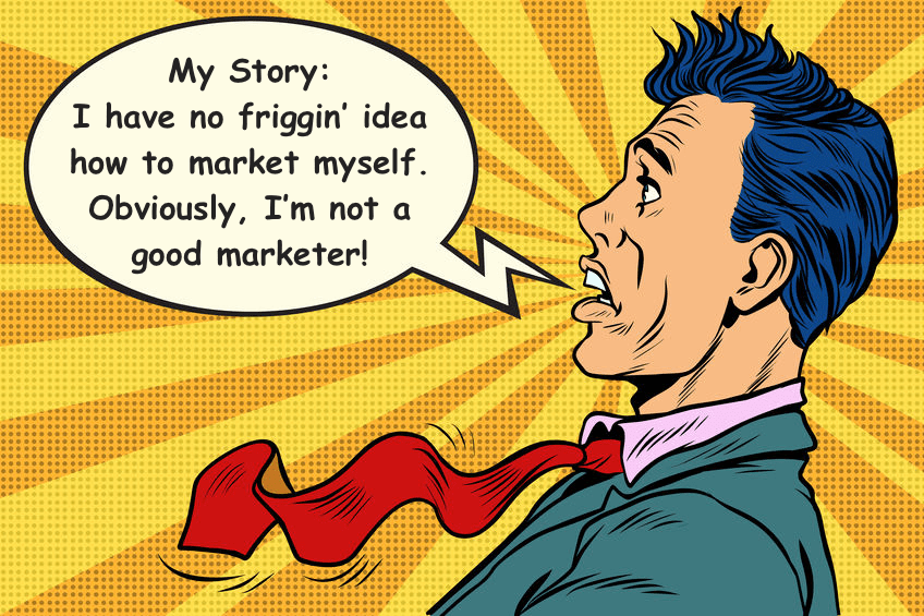 Marketing Stories Cartoon