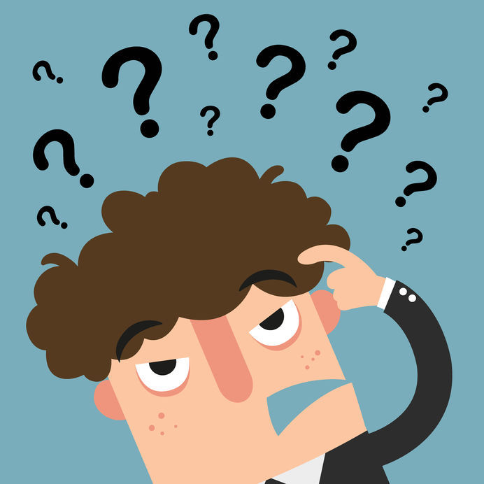 Business Thinking With Question Marks,illustration Vector
