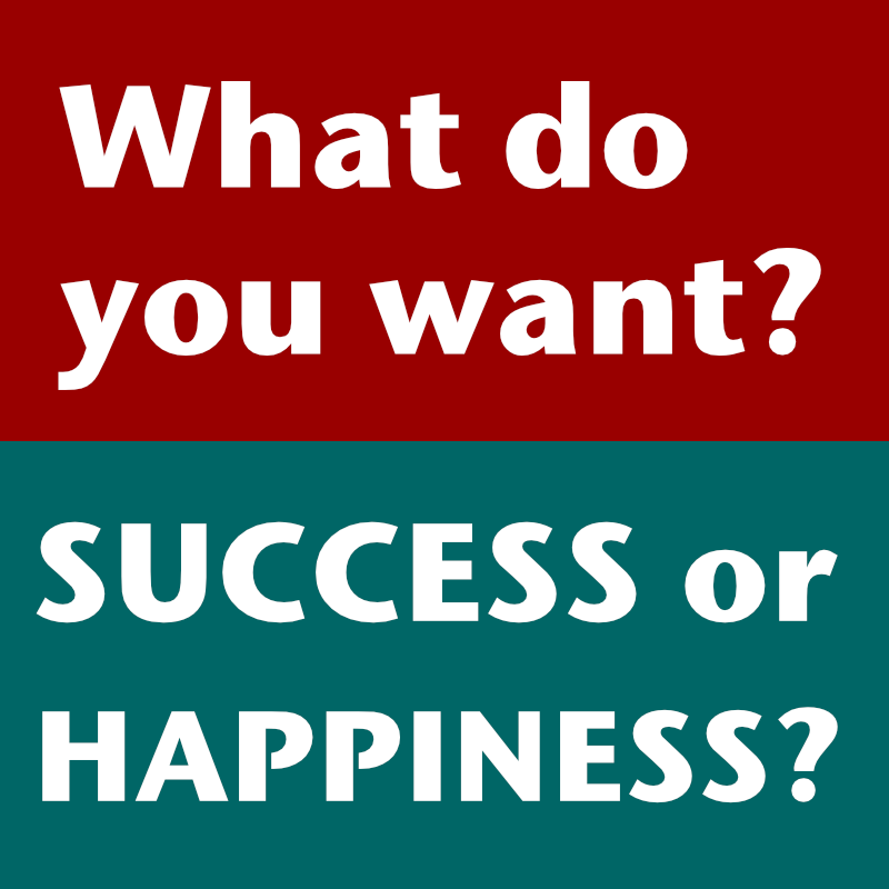 Do You Want Success or Happiness?