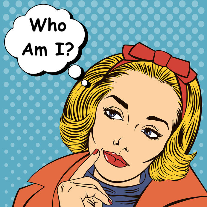 Woman Thinking. Woman In Love. Pretty Girl. Woman Doubts. Woman Looking Up. Pop Art Banner. Vector Illustration