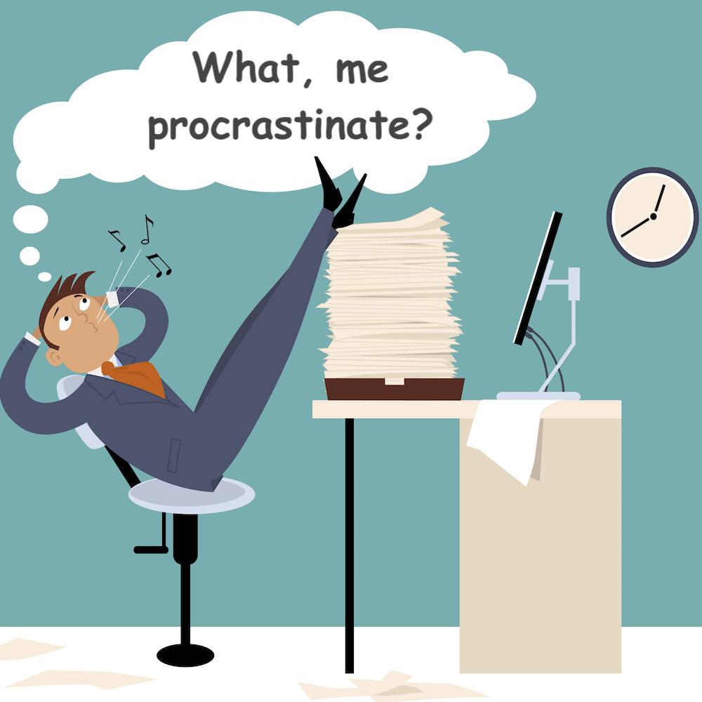 Procrastinating Man